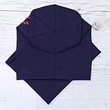Детская шапка с хомутом КАНТА размер 48-52, синий (OC-402), фото 3