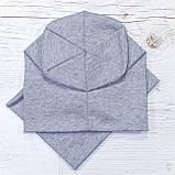 Детская шапка с хомутом КАНТА размер 52-56, серый (OC-423), фото 2
