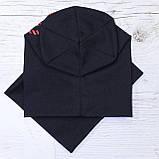 Детская шапка с хомутом КАНТА размер 52-56, черный (OC-425), фото 3