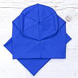 Детская шапка с хомутом КАНТА размер 48-52, синий (OC-428), фото 3