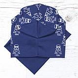 Детская шапка с хомутом КАНТА размер 52-56, синий (OC-433), фото 3
