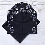 Детская шапка с хомутом КАНТА размер 52-56, черный (OC-435), фото 3