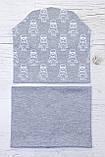 Детская шапка с хомутом КАНТА размер 48-52, серый (OC-440), фото 2