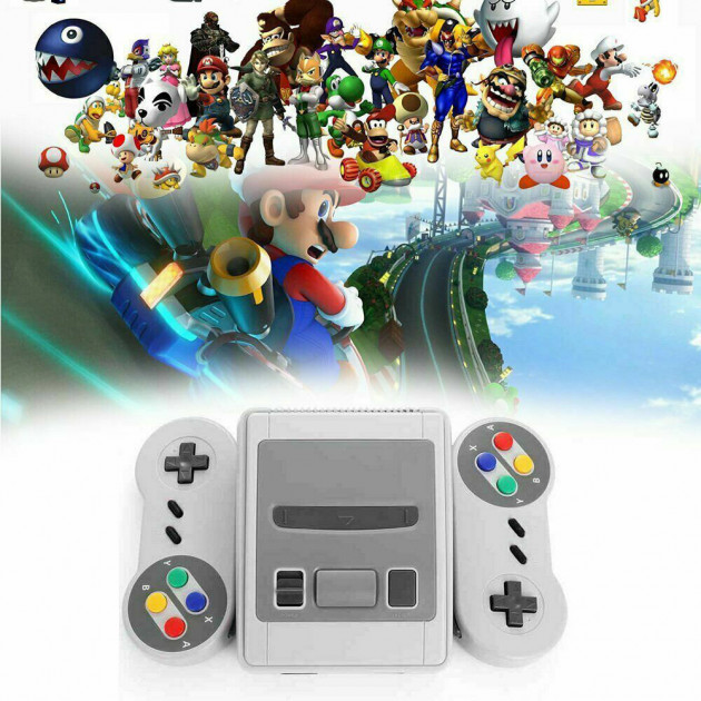Ретро игровая консоль приставка 620 игр с 2 джойстиками Super Mini SFC