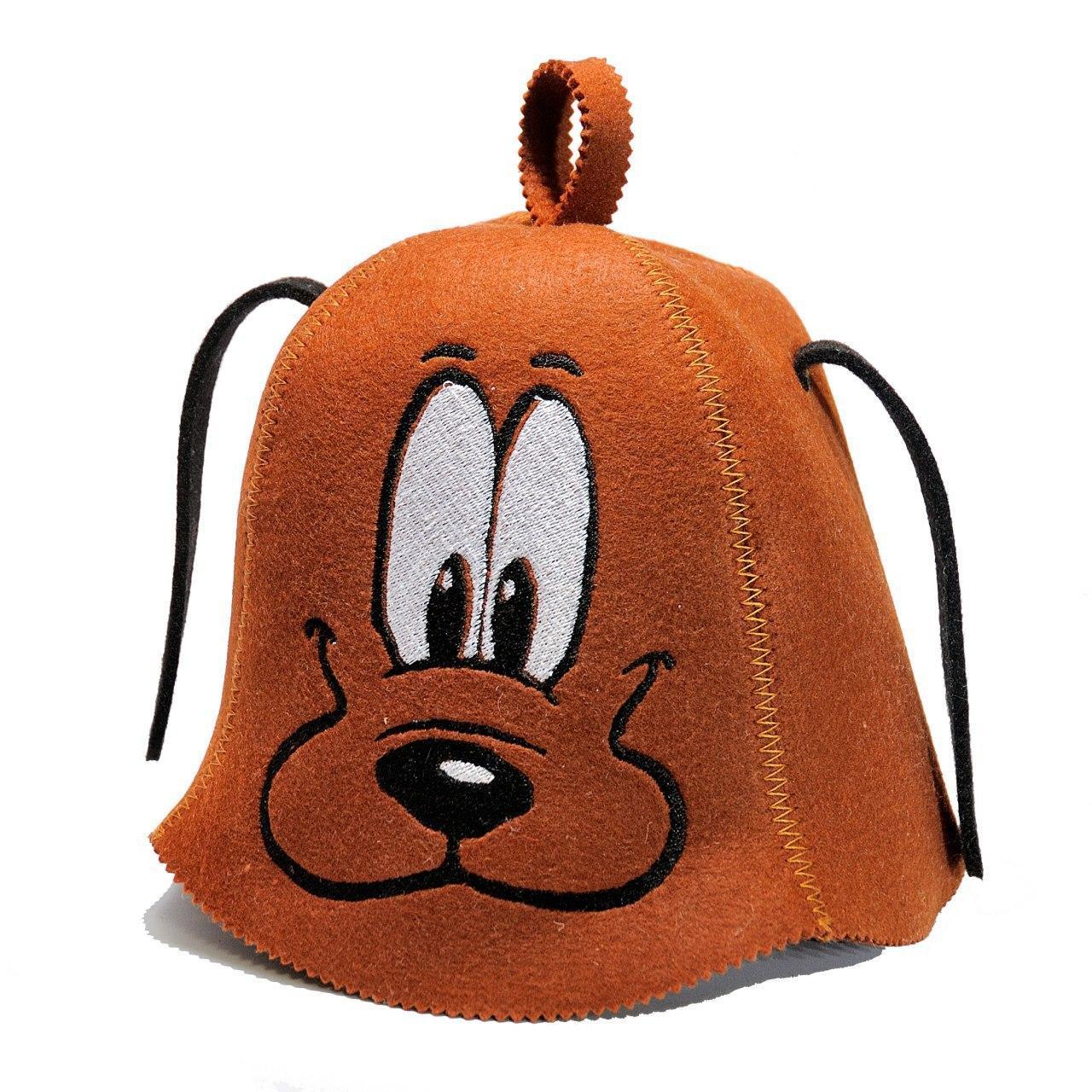 """Банная шапка Luxyart """"Пес"""" искусственный фетр коричневый (LС-420)"""