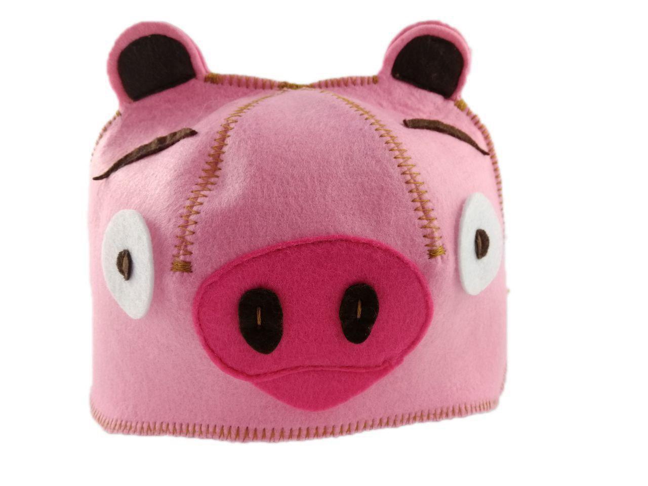 """Банная шапка Luxyart """"Свинка"""" искусственный фетр розовый (LС-421)"""