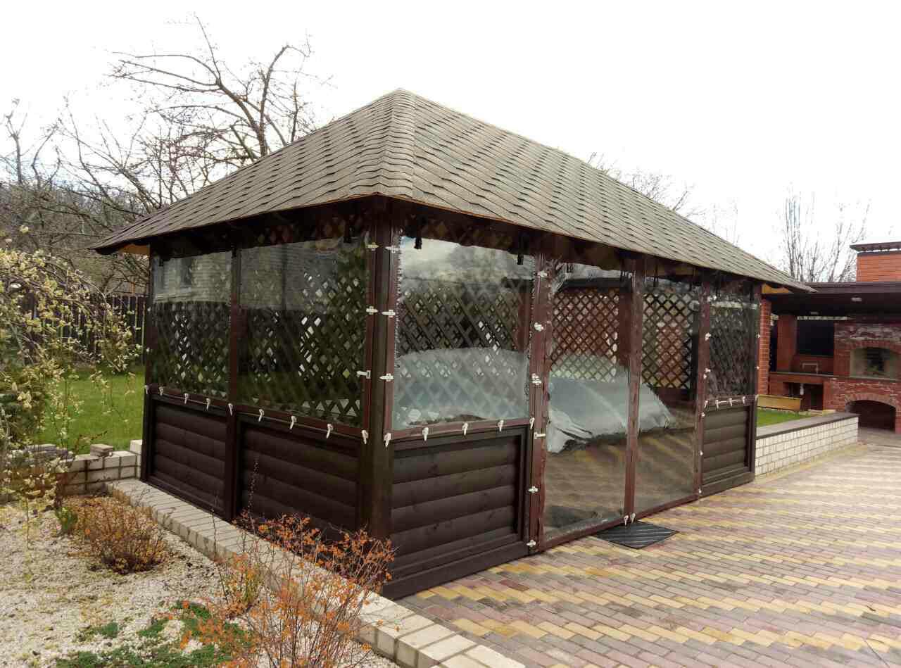 Мягкие окна, шторы ПВХ для кафе и ресторанов