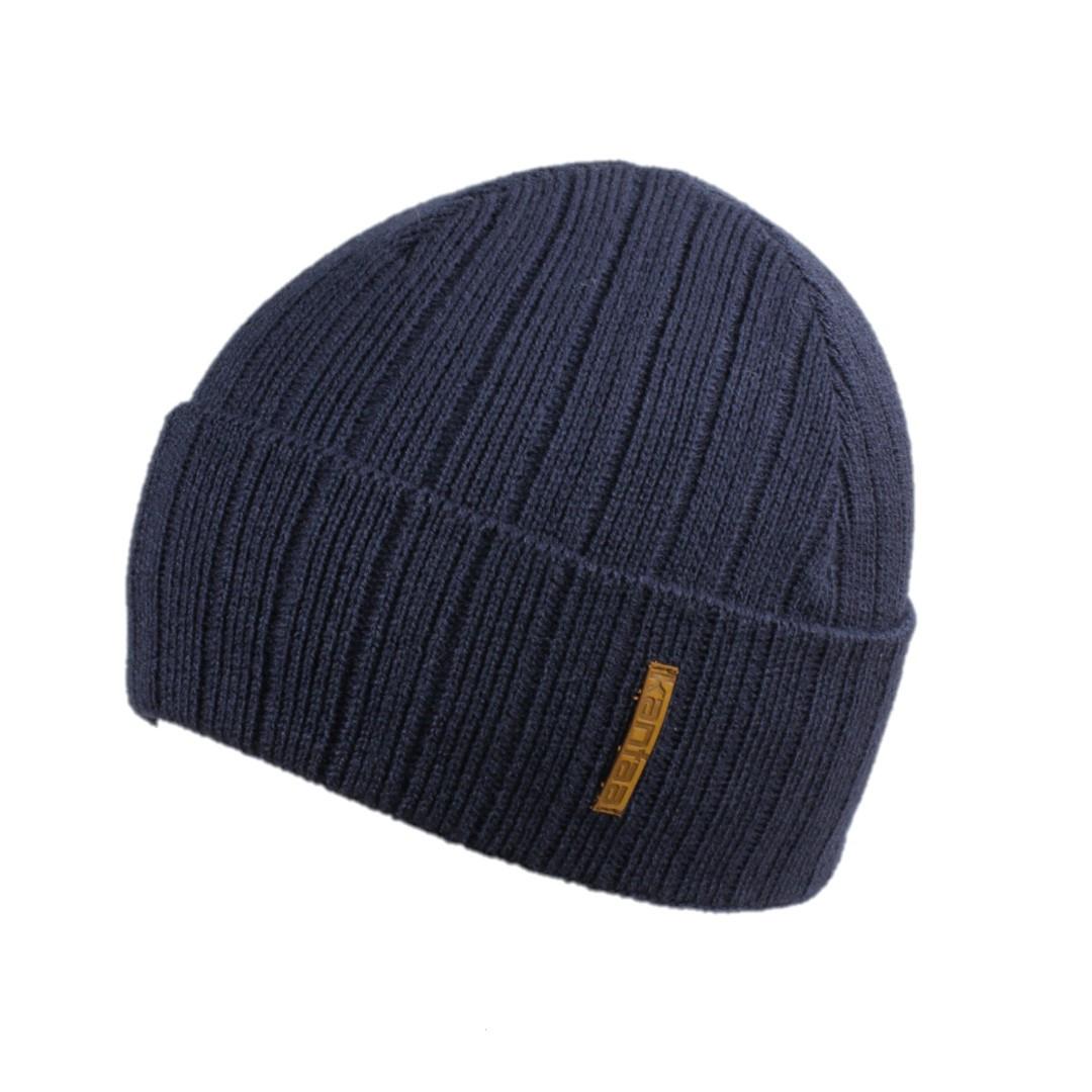 Мужская зимняя шапка КАНТА размер 56-58, синий (OC-488)