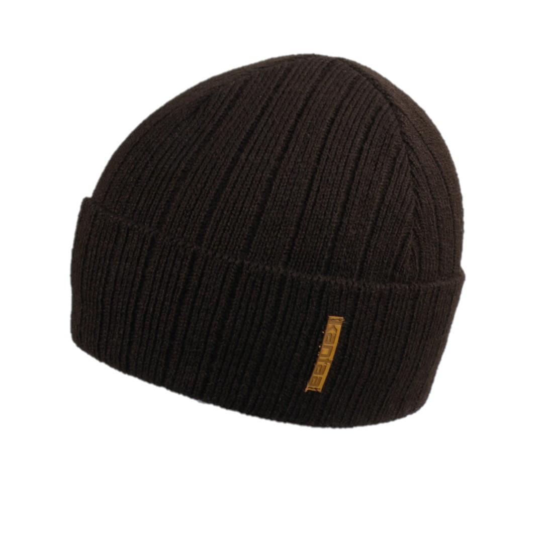 Мужская зимняя шапка КАНТА размер 56-58, коричневый (OC-491)