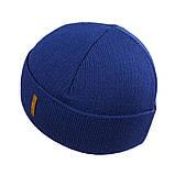 Мужская зимняя шапка КАНТА размер 56-58, синий (OC-499), фото 2