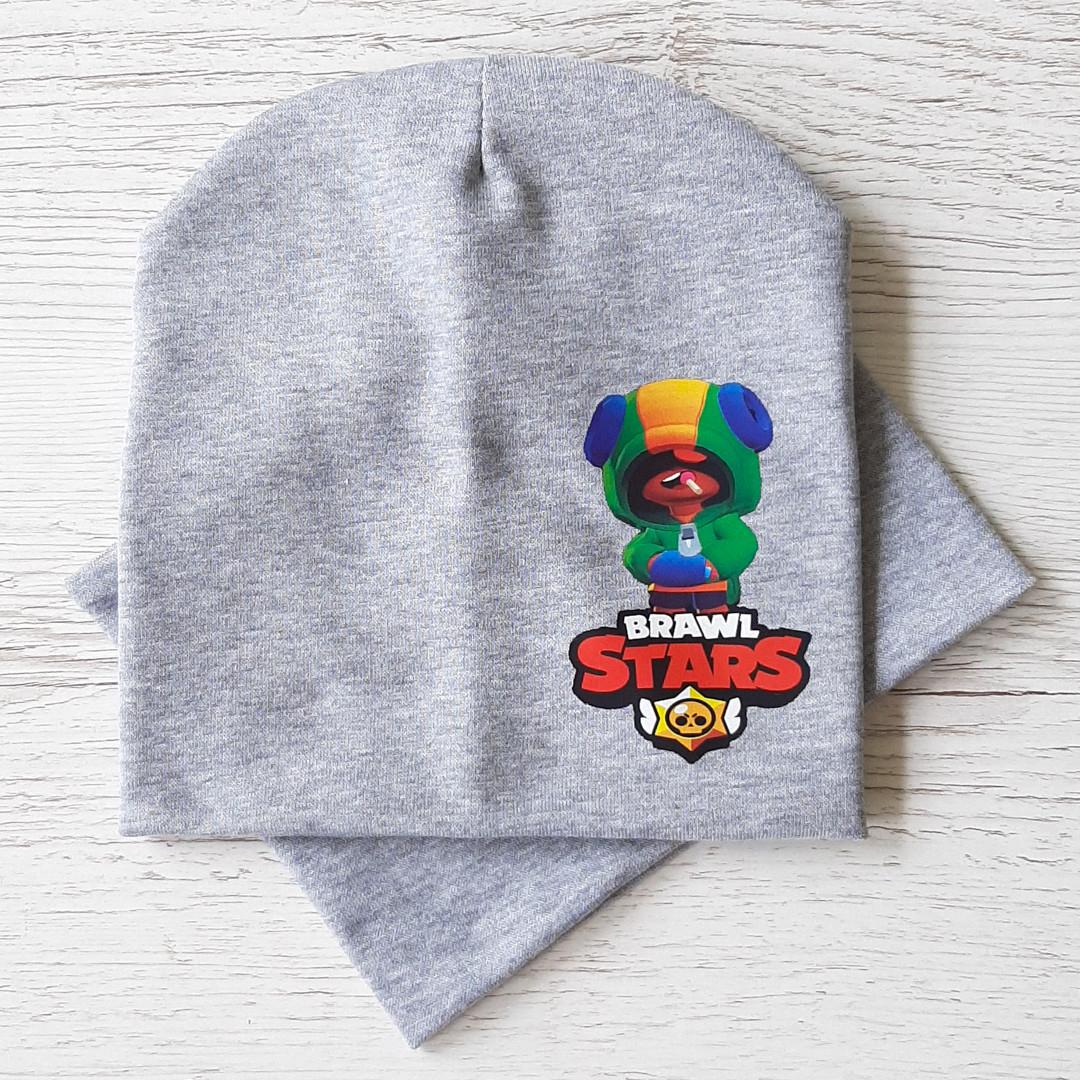 Детская шапка с хомутом КАНТА размер 52-56, серый (OC-520)