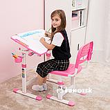Растущая парта для девочки FunDesk Piccolino II Pink, фото 7