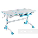 Стіл-трансформер FunDesk Amare with drawer Blue + Книжкова полиця FunDesk SS16, фото 2