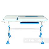 Стіл-трансформер FunDesk Amare with drawer Blue + Книжкова полиця FunDesk SS16, фото 3