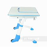 Стіл-трансформер FunDesk Amare with drawer Blue + Книжкова полиця FunDesk SS16, фото 4