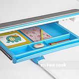 Стіл-трансформер FunDesk Amare with drawer Blue + Книжкова полиця FunDesk SS16, фото 8