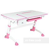 Дитячий стіл-трансформер FunDesk Amare Pink з висувним ящиком, фото 2