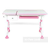 Дитячий стіл-трансформер FunDesk Amare Pink з висувним ящиком, фото 3