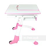 Дитячий стіл-трансформер FunDesk Amare Pink з висувним ящиком, фото 4