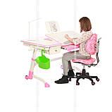 Дитячий стіл-трансформер FunDesk Amare Pink з висувним ящиком, фото 6