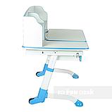 Парта трансформер для школьника для дома FunDesk Amare II Blue с выдвижным ящиком, фото 4