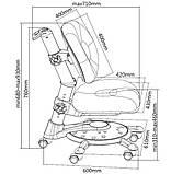 Дитяче ортопедичне крісло FunDesk SST1 Blue, фото 10