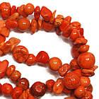 Сколы Камня Говлит Крупные Оранжевые, Размер 6-12*4-8 мм, Около 85 см нить, Бусины Натуральный Камень, фото 4