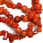 Сколы Камня Говлит Крупные Оранжевые, Размер 6-12*4-8 мм, Около 85 см нить, Бусины Натуральный Камень, фото 5