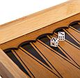 Шахматы, шашки, нарды 3 в 1 бамбуковые B 3135 (фигурки-дерево, доска 34x34 см), фото 7