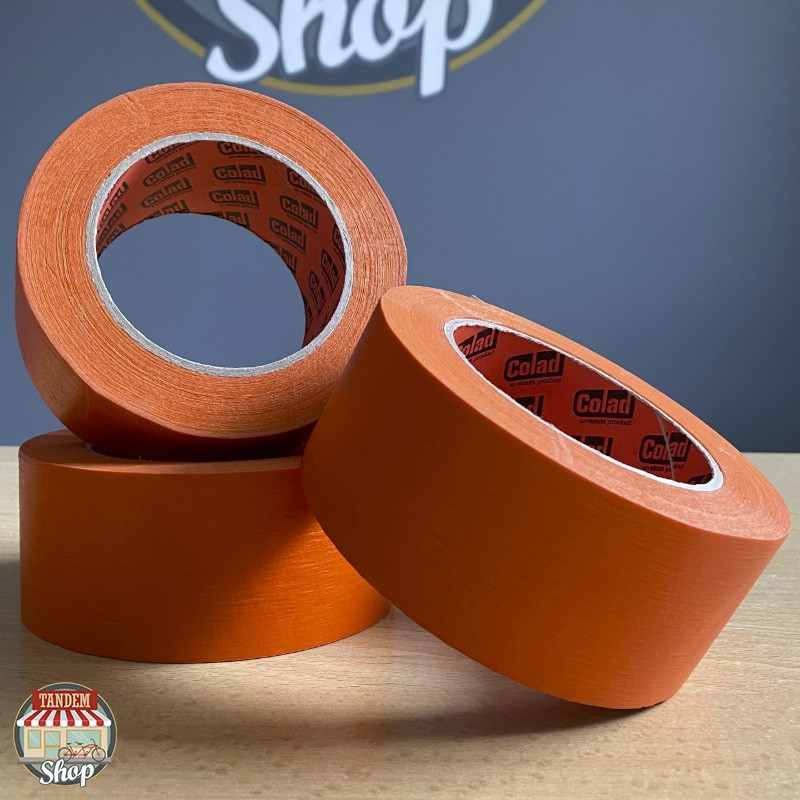 Стрічка малярна термостійка помаранчева Colad Orange™ 100°C, 50 мм х 50 м