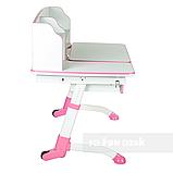 Детская регулируемая парта FunDesk Amare II Pink с выдвижным ящиком, фото 4
