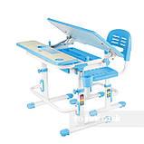 Растущая парта + стульчик для школьника Fundesk Lavoro Blue, фото 2