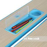 Растущая парта + стульчик для школьника Fundesk Lavoro Blue, фото 6