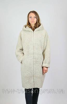 Женское пальто Queen's Wardrobe J10019 эко овчина беж