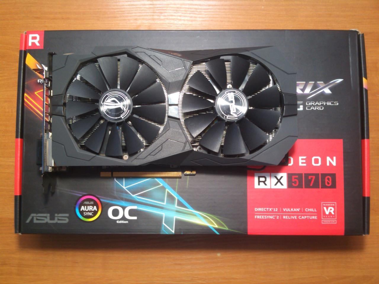 Asus RX 570 Strix OC GAMING 4GB 256bit GDDR5 HDMI PCI-E Гарантія!