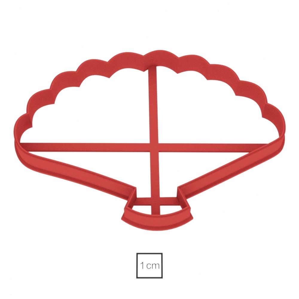Висічка для пряників у вигляді віяла