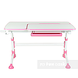 Стол-трансформер FunDesk Amare Pink + Книжная полка FunDesk SS16, фото 3