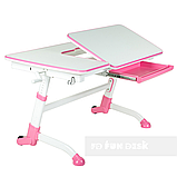 Стол-трансформер FunDesk Amare Pink + Книжная полка FunDesk SS16, фото 4