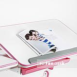 Стол-трансформер FunDesk Amare Pink + Книжная полка FunDesk SS16, фото 7