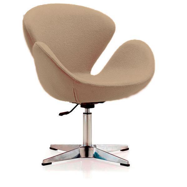 Кресло Сван мягкое металл ткань Grupo SDM