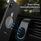 Магнитный автомобильный держатель для телефона в вентиляционную решетку, фото 5