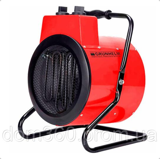Обогреватель электрический, тепловая пушка GPH 3R Grunhelm 3000 Вт 380V