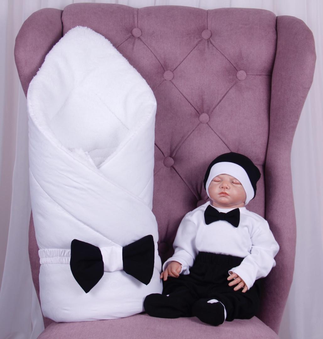 Зимний комплект на выписку для новорожденного мальчика набор Classic Boy