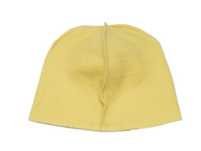 Флисовая подкладка для шапки 43см, Желтая