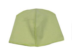Флисовая подкладка для шапки 43см, Салатовая