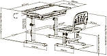 Комплект парта + стул трансформеры Cubby DISA GREEN, фото 9