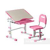 Комплект парта + стул трансформеры Vivo Pink FUNDESK, фото 4