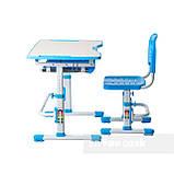 Комплект парта + стул трансформеры Vivo Blue FUNDESK, фото 4