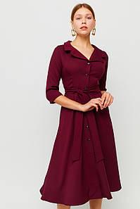 Вишукане класичне плаття Delisa, бордовий