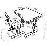 Комплект парта + стул трансформеры Vivo Green FUNDESK, фото 7